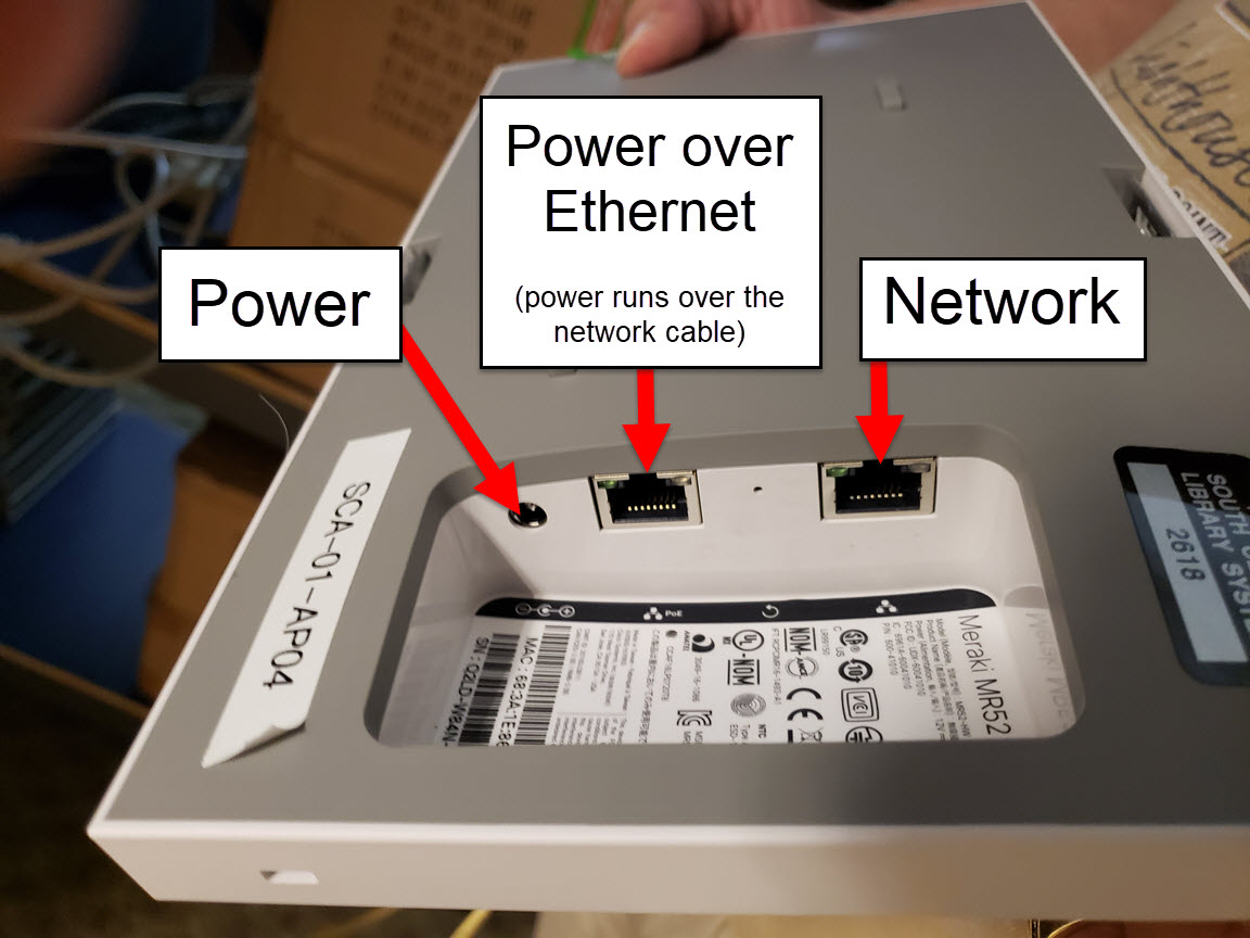 Enterprise Wireless Support (Meraki)   South Central Library