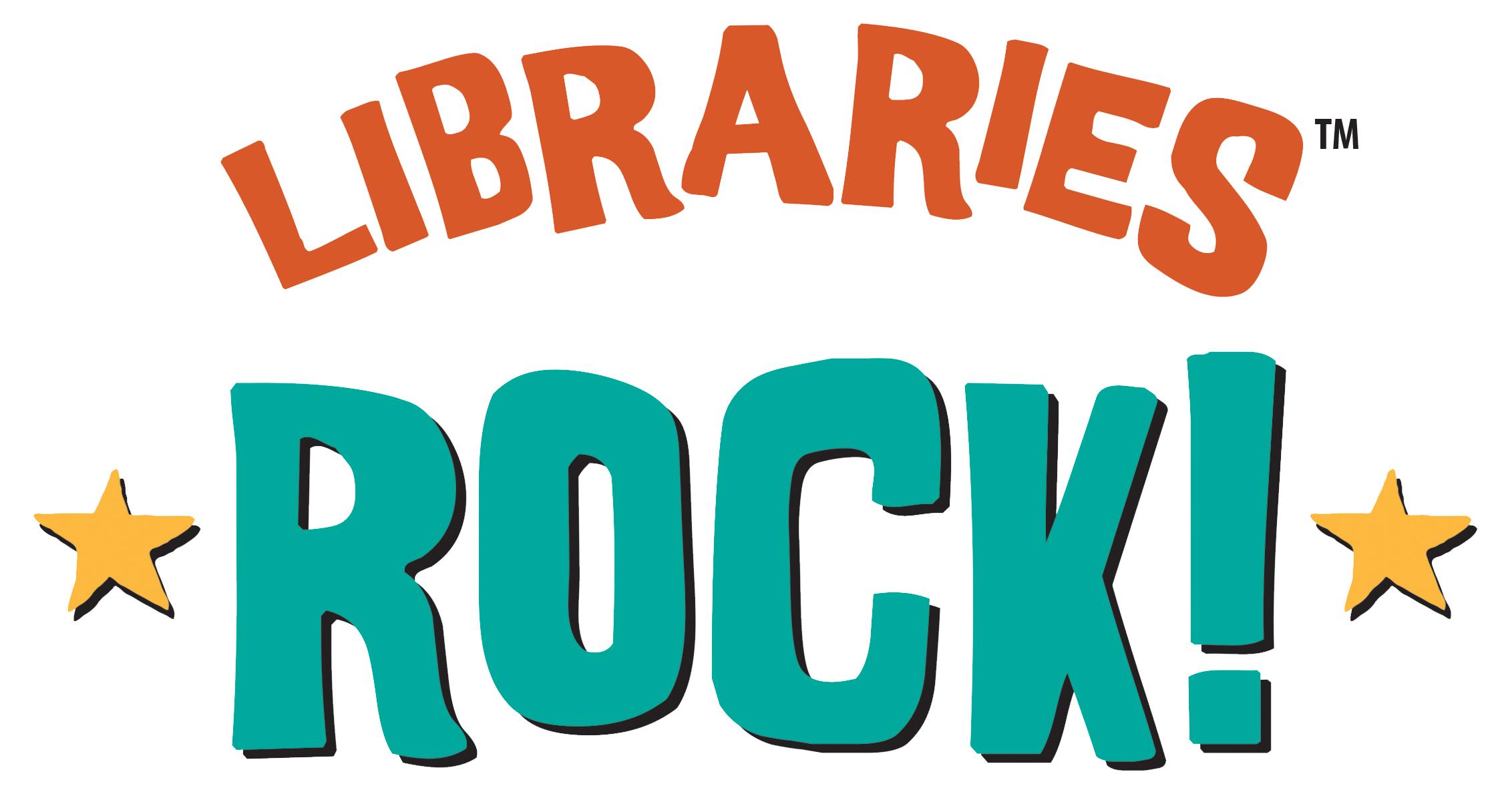 Libraries Rock large print slogan