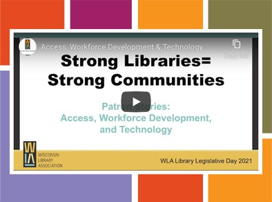 Library video project graphic