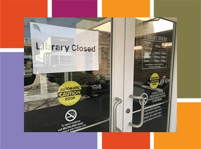 Library closed graphic.