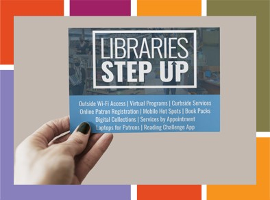 Libraries step up graphic