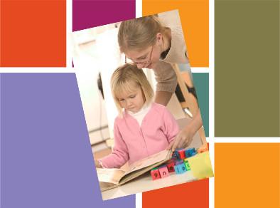 Reading trauma photo: child and teacher.