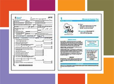 Tax forms graphic