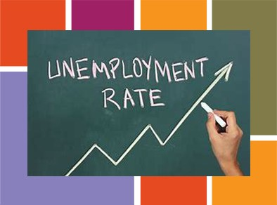 Unemployment rate increase graphic