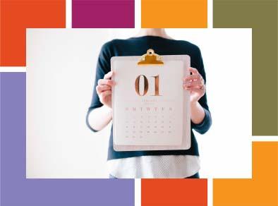 Calendar graphic/photo.